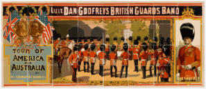 Lieut. Dan Godfrey S British Guards Band Tour Of America And Australia Under The Sole Direction Of Mr. Charles A.e. Harriss. Clip Art