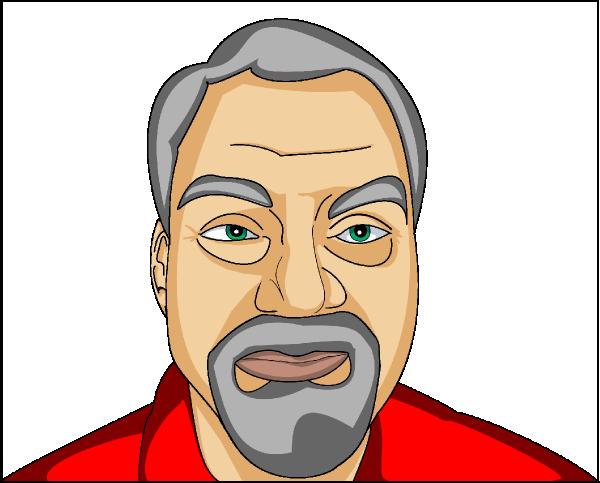 old man with beard clip art at clkercom vector clip art