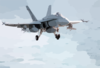 F/a-18 Hornet On Final Approach For A Carrier Landing. Clip Art
