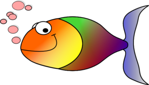Rainbow Fish Without Fins Clip Art