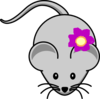Rat With Flower Clip Art