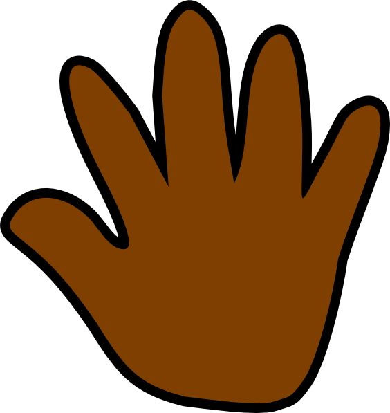 dark brown handprint clip art at clker com vector clip art online rh clker com free baby handprint clipart free baby handprint clipart