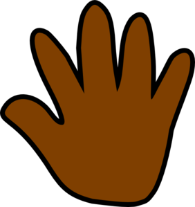 Dark Brown Handprint Clip Art