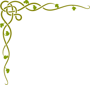 Edited Celtic Vine Corner Clip Art