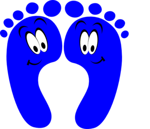 Blue Happy Feet Clip Art