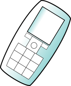 Mobile Phone Angle Clip Art
