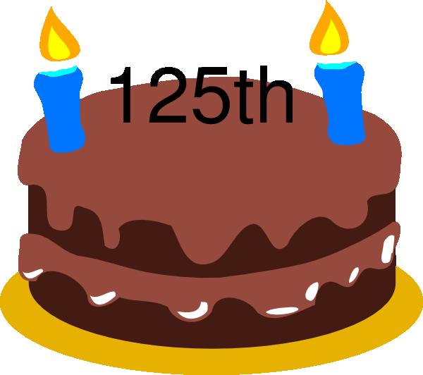 Birthday Cake 125th Clip Art At Clker Vector Clip Art Online