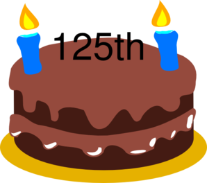 Birthday Cake 125th Clip Art