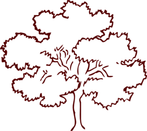 Oak Tree Dark Brown Clip Art