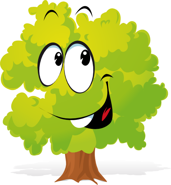 Happy Cartoon Tree Clip Art at Clker.com - vector clip art ...
