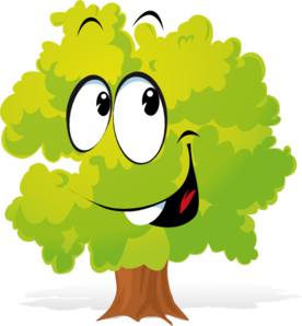 Happy Cartoon Tree Clip Art At Clker Com Vector Online Rh Free