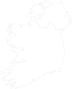 Ireland Contour Map Big Clip Art