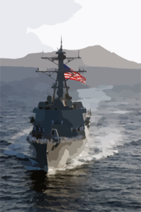 The Newly Commissioned Guided Missile Destroyer Uss Chafee (ddg 90) Sails Into Her New Homeport Of Pearl Harbor, Hawaii. 2 Clip Art