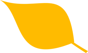 Yellow Simple Leaf 2 Clip Art