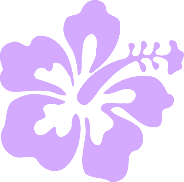 Purple Only Hibiscus Clip Art at Clker.com - vector clip ...