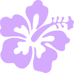 Purple Only Hibiscus Clip Art