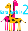 Birthday Girl Giraffes Clip Art