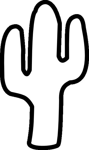 Cactus Outline Clipart
