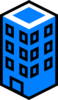 Office Building Blue Clip Art