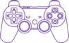Joystick Purple Clip Art