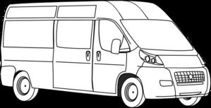 Van Outline Clip Art at Clker.com - vector clip art online, royalty ...