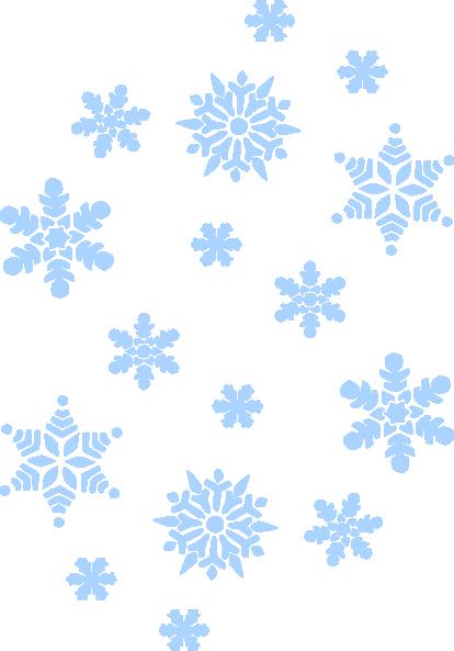 Snowflakes Blue Clip Art at Clker.com - vector clip art ...   Blue Snowflakes Png