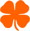Large Orange Shamrock Clip Art