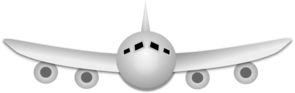 Airplane Front View Clip Art