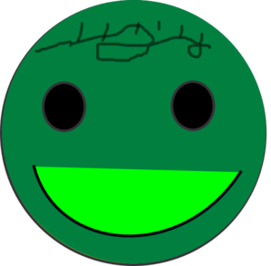 Green Smily Face Clip Art