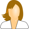 User Icon, Female, White Shirt Clip Art