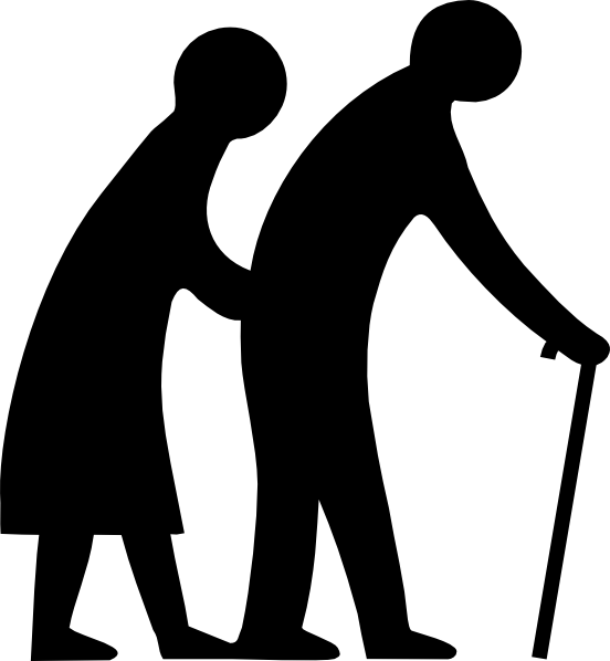 old people crossing the road clip art at clker com vector clip rh clker com Funny Old People Clip Art old people clip art free