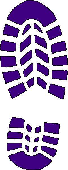 purple boot print clip art at clkercom vector clip art