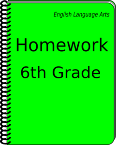 Homework Notebook Clip Art