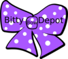 Bow With Polka Dots And Company Name Clip Art
