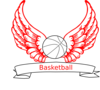 Basketball Angel Wings Clip Art