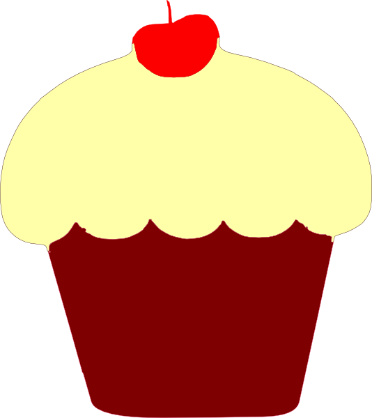 Red Velvet Cupcake Clip Art at Clker.com - vector clip art ...