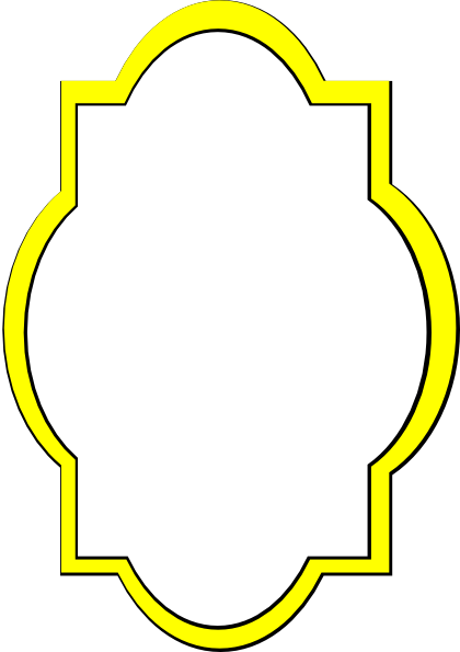 yellow frame clipart - photo #3