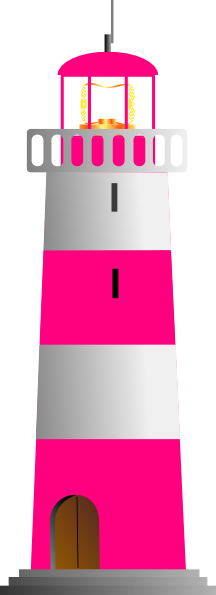 Pink And White Lighthouse Clip Art At Clker Com Vector