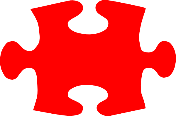 Jigsaw Red Puzzle Piece Large Clip Art at Clker.com ...