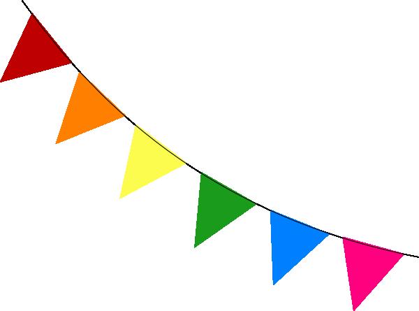 rainbow bunting diagonal clip art at clker com vector bunting clip art small bunting clipart png