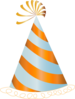 Orange Party Hat Clip Art