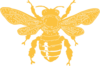 Yellow Bee Fat Clip Art