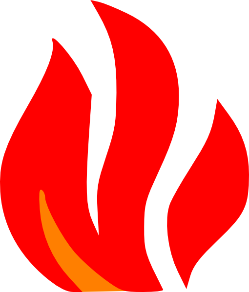 Fire Torch Clipart Fire red and orange clip art