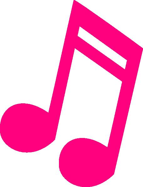 Hot Pink Music Note Clip Art at Clker.com - vector clip art online ...