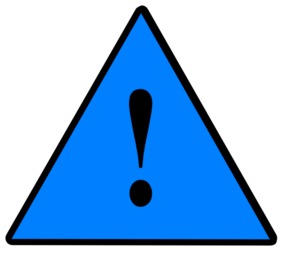 1 Guarded Risk Risk Solid Blue Clip Art