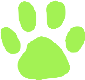 Green Pet Footprint Clip Art
