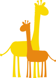 Darker Orange Giraffe Clip Art