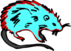 Hot Blue Rat Clip Art