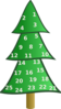 Homemade Advent Calendar For Stickers Clip Art