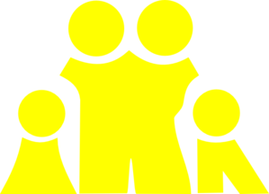 Nuclear Family Yellow Clip Art at Clker.com - vector clip art ...